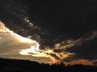 I motljus ser himlen ut att brinna!