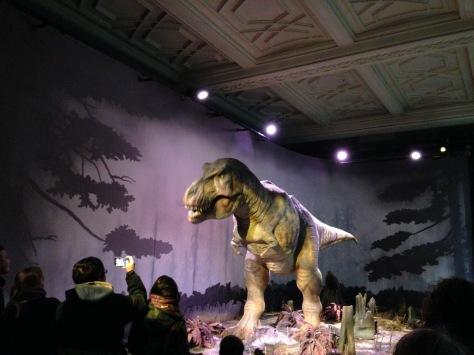 A dinosaur come's alive...