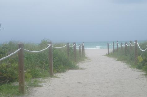 Vägen ner till stranden