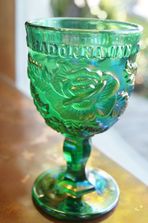 Glas med dekoration