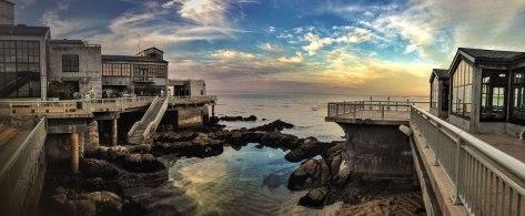 Kvällsbild från Monterey Bay Aquarium