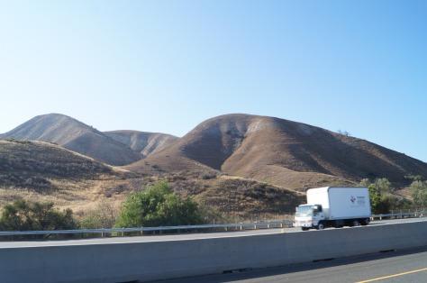 Mjuka kullar nära Los Angeles