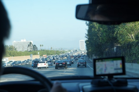 Trafiken på väg in i Los Angeles