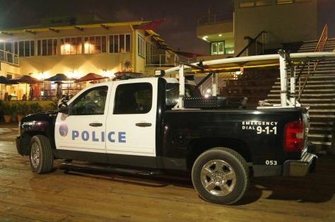 Uppställd polisbil