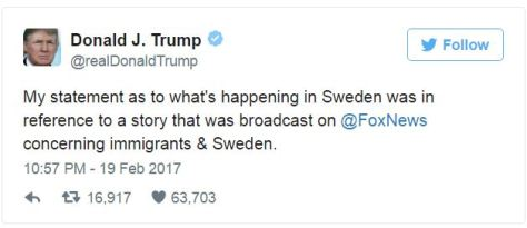 #asaole, #donald-trump-regarding-sweden